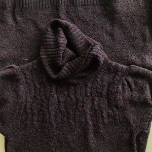 Sweater Project Turtleneck Dress   Purple